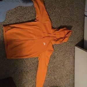 Orange Nike Zip-Up Hoodie